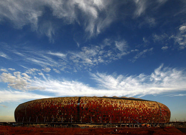 Het Soccer City-stadion in Johannesburg., Reuters