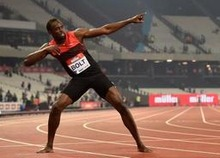 Diamond League Londen - Usain Bolt wint 200 meter in 19.89