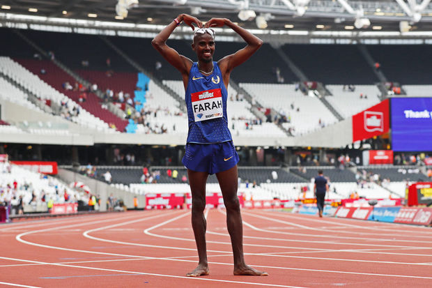 Mo Farah op de London Anniversary Games 2016., Reuters