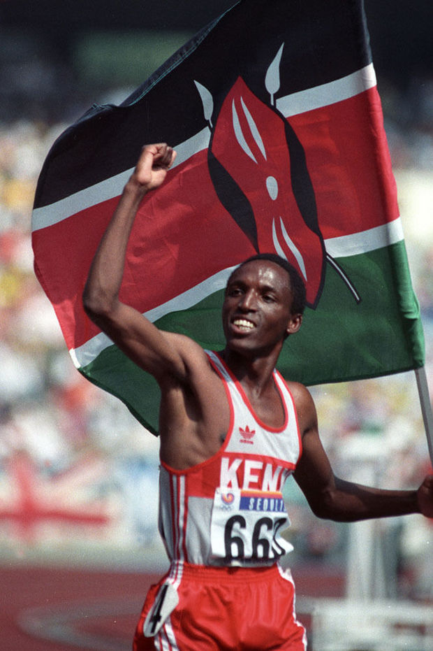 Peter Rono na goud in Seoul 1988., Reuters