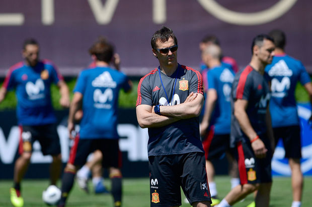 Julen Lopetegui op training in Krasnodar