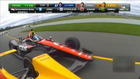 Spectaculaire crash in Indycar