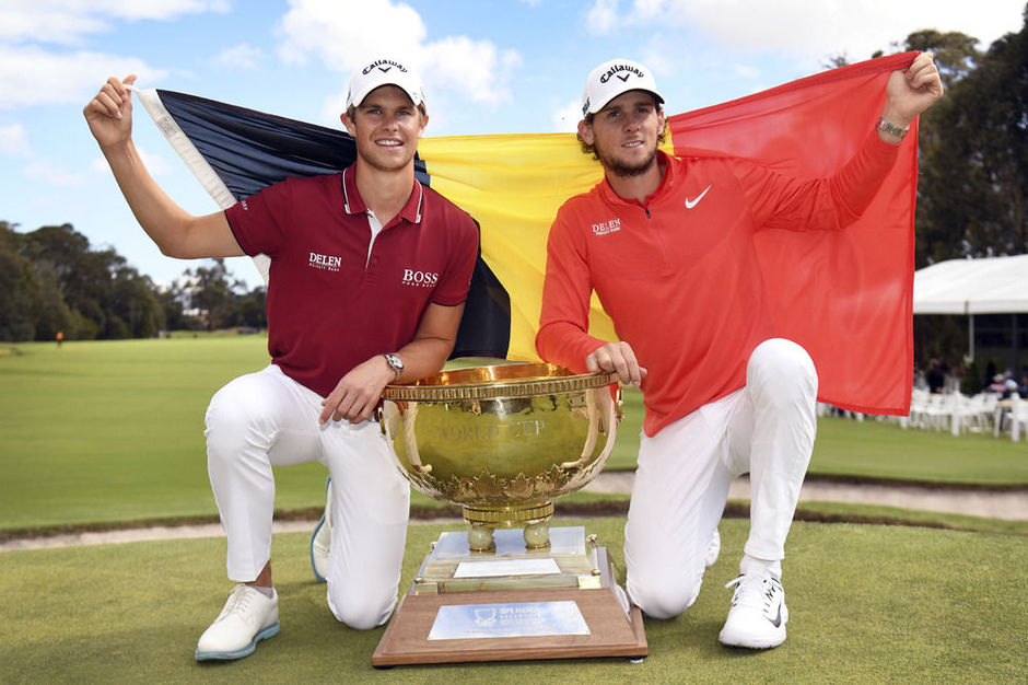 Thomas Pieters en Thomas Detry winnen World Cup of Golf